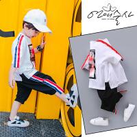 男童夏装新款套装夏季童装中大童儿童短袖两件套