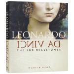 列奥纳多达芬奇自传 100个里程碑 英文原版 人物传记 Leonardo da Vinci The 100 Milest