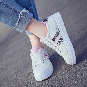 女式 新款小白鞋女韩版百搭厚底板鞋休闲单鞋学生跑步鞋