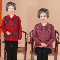 中老年女装开衫妈妈装长袖羊毛衫秋冬上衣奶奶羊绒衫线衣外套60岁