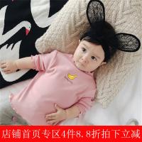 婴儿秋季衣服0-3岁女宝宝水果印花上衣新生儿纯棉外出长袖T恤