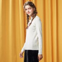 【年前最后狂欢,3件2.2折到手价:37.18】美特斯邦威毛衣女关晓彤同款2017冬季HYSTYL拉链针织衫