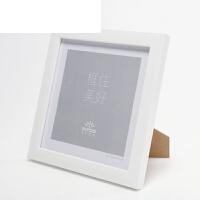 正方形相框摆台挂墙装裱画框7寸照片8 10 12寸十字绣装裱创意相框