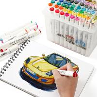 秀普马克笔套装 touch7代正品学生用手绘动漫服装海报设计绘画肤色专用油性笔彩色画笔全套双头马克笔60/80色