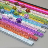 亮粉星星折纸幸运星折纸折五角星材料