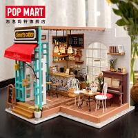 POPMART 若态3D立体拼图拼装模型手工DIY小屋阳光咖啡馆