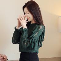 蕾丝打底衫长袖女装秋装2018新款韩版秋季宽松秋天洋气上衣服