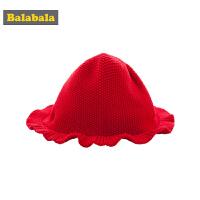巴拉巴拉儿童帽子女童秋冬新品2018款宝宝保暖帽纯棉针织款毛线帽