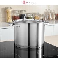 海澜优选7L家用大容量厨房锅具304不锈钢煲炖煮面汤锅燃气电磁炉