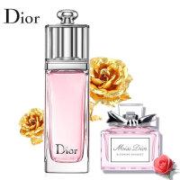 迪奥(Dior)香水Q版小样花漾甜心5ml+魅惑5ml组合装(无包装盒)