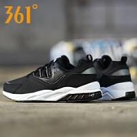 361男鞋秋季潮流皮革网布拼接舒适透气缓震耐磨跑步鞋671732203