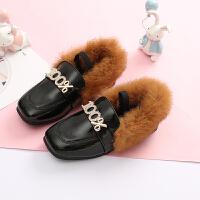 儿童皮鞋女童鞋冬季2018新款韩版公主鞋防滑保暖宝宝加绒短靴