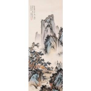 著名画家   陈少梅 《山间幽居图》