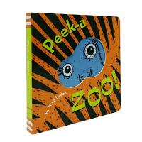 进口英文 Peek-a Zoo 猜猜动物园 纸板书【2~5岁】
