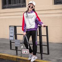 春秋装女童2018新款女大童装秋季运动套装韩版儿童两件套潮15岁12