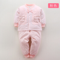 婴儿夏季新生儿棉衣套装衣服儿童外套男女宝宝春秋装薄款棉袄2973