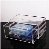 面膜盒子收纳盒 透明收纳抽屉桌面化妆品梳妆台置物架创意亚克力