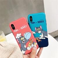 猫和老鼠卡通6s苹果X/XS/Max手机壳iPhone8软壳・7Plus硅胶XR情侣 XS Max 猫和老鼠红色