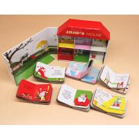 Jojo's House乔乔的小屋英文原版绘本6册手掌纸板书礼盒装 艺术大师 Xavier Deneux 亲子互动