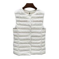 2018秋冬新款女装羽绒背心轻薄型保暖坎肩内胆修身显瘦内外穿