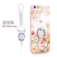 景为苹果6手机壳iPhone6s硅胶套六plus新款6sp个性创意全包i6女款带指环支架ipo