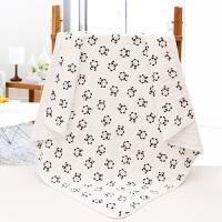 竹棉盖毯棉纱布婴儿浴巾厚毛巾被小孩盖被空调被 6层熊猫 棉