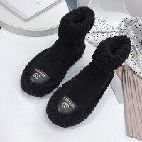雪地靴女冬季新款时尚韩版百搭chic加绒保暖学生防滑毛毛短靴