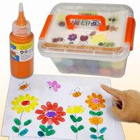 儿童手指画颜料宝宝画画颜料无毒可水洗水彩绘画指印涂鸦工具套装