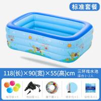 家用游泳池婴儿 婴儿游泳池充气加大家庭游泳池 婴幼儿童宝宝浴盆海洋球池A