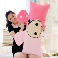 卡通抱枕靠垫可爱长靠枕床头 情侣双人枕可拆洗含枕芯枕套单人枕