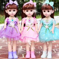 婴儿童小女孩玩具公主单个仿真布会说话的智能对话巴比洋娃娃套装