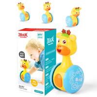 婴幼儿儿童不倒翁玩具 可爱形象萌宠鹿小星滑行不倒翁摇铃婴儿礼品玩具