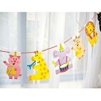 儿童生日派对装饰用品宝宝周岁宴布置彩旗拉旗派对韩版三角旗拉花