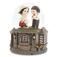 爱的玫瑰水晶球音乐盒八音盒女生儿童生日礼物创意旋转发光 爱的玫瑰(顺丰)