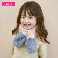 【4件2折价:33.8】笛莎女童围巾2020冬季新款柔软儿童围脖双层绒面甜美时尚围巾女