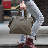 韩版潮男包包公文包商务式手提包斜挎包单肩斜跨帆布男士休闲包袋