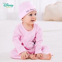 迪士尼Disney婴儿连体衣 纯棉新生儿内衣侧开扣哈衣爬服191L801