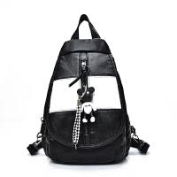 双肩包女韩版女士胸包新款百搭大容量女背包软水洗皮旅行包