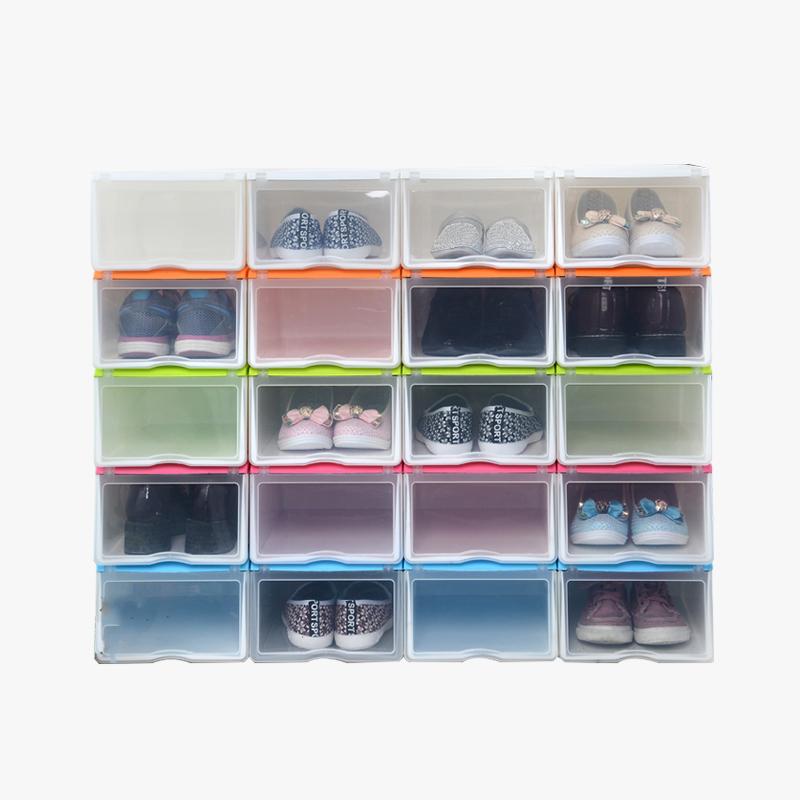 当当优品 抽屉式塑料防潮加厚透明鞋盒 6个装  颜色多选当当自营 简约时尚 随意搭配 方便拿取  防尘防潮