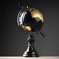 地球仪摆件办公室桌面老板摆设创意书房美式家居装饰品树脂工艺品