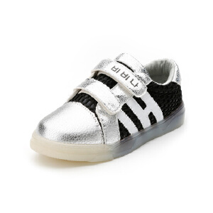 比比我男童运动鞋春秋新款2017潮童鞋宝宝高帮小孩防滑休闲鞋
