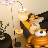 北欧钓鱼灯充电落地灯茶几客厅卧室书房简约现代创意美式立式台灯n7y