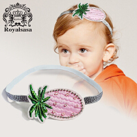 皇家莎莎 儿童发饰头饰女童公主韩国宝宝发带菠萝发箍生日礼物头花