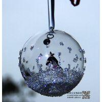奥地利水晶2016新款圣诞树水晶挂件汽车挂饰童话圣诞球车饰礼物
