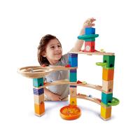 Hape夸得瑞拉回旋栈道套4-99岁益智玩具滚珠积木拼搭木质儿童婴幼木制玩具轨道滑道E6020