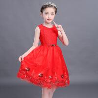 童装女童夏季裙子韩版洋气小女孩衣服夏连衣裙蕾丝公主裙
