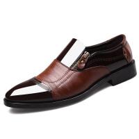 皮鞋男商务秋季新款男鞋韩版软面皮正装男士休闲皮鞋透气结婚鞋子