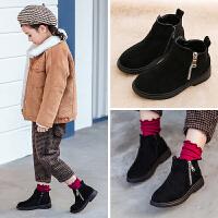 女童短靴子春秋冬季2018新款童鞋儿童马丁靴加绒小公主皮单靴秋季
