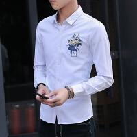 施衣品秋季新款男士长袖衬衫青少年时尚潮流帅气休闲衬衣C212-994