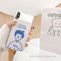 韩风情侣镜面XS Max/XR苹果X手机壳iPhoneX/6/7p/8Plus女iphone6s 6/6s 男孩